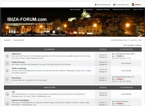Das Ibiza-Forum präsentiert sich ab heute runderneuert und wir freuen uns auf Eure Beiträge