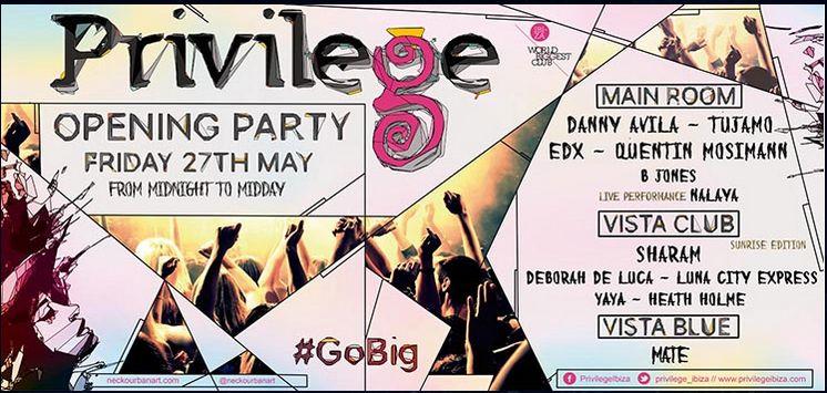 Artwork zur Opening Party: 2016 - es geht los. Das Privilege feiert unter dem Motto #GoBig
