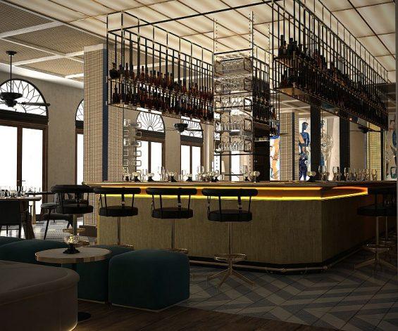Blick in die neu gestaltete Bar des Gran Hotel Montesol Ibiza (Foto: Curio, 2016)