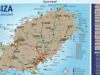 Kostenlose Karte der Insel Ibiza von Ibiza.travel.