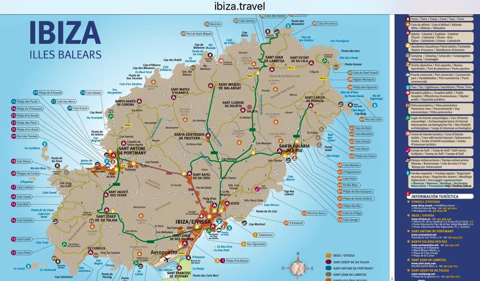ibiza karte Kostenlose Ibiza Karte: Alle Strände und Sehenswürdigkeiten in der